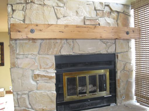 Buy A Hand Crafted Knotty Alder Fireplace Beam Mantel Rustic Distressed Antique Bolts
