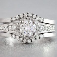 moissanite bridal ring set