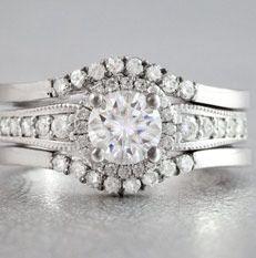 moissanite bridal ring set