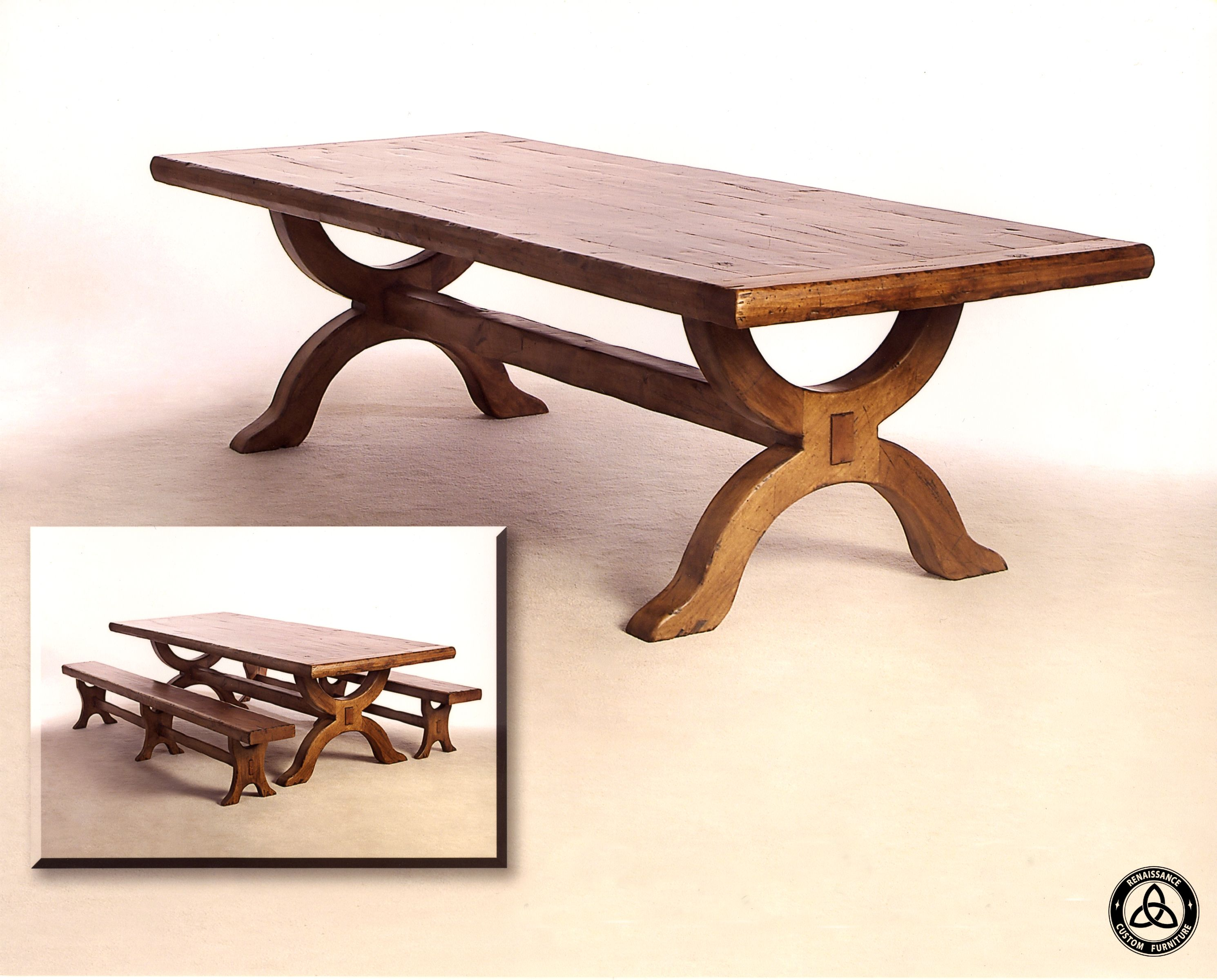 Custom Made 422 Knotty Alder Dining Table By Renaissance