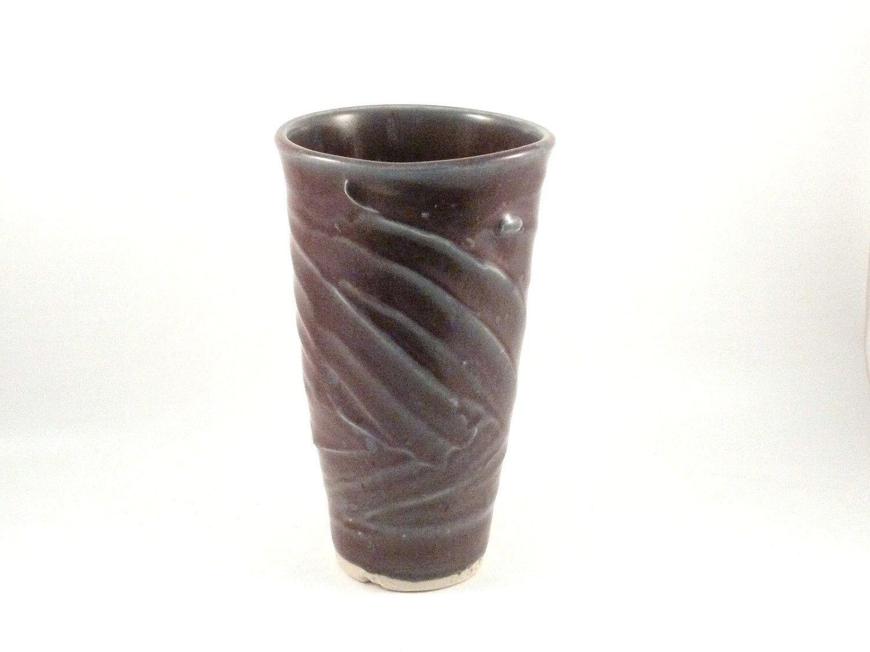 Hand crafted handmade ceramic art vase in eggplant purple tall custom made handmade ceramic art vase in eggplant purple tall sculpted vessel ships today reviewsmspy