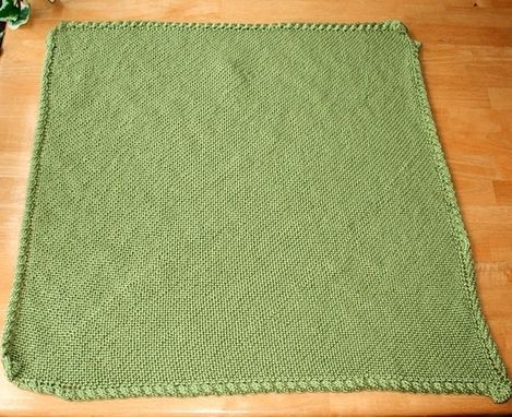 Custom Made Knit Baby Blanket Pattern - Easy Warm Cable Border