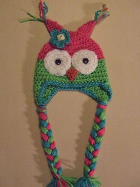Custom Made Neon Owl Earflap Hat