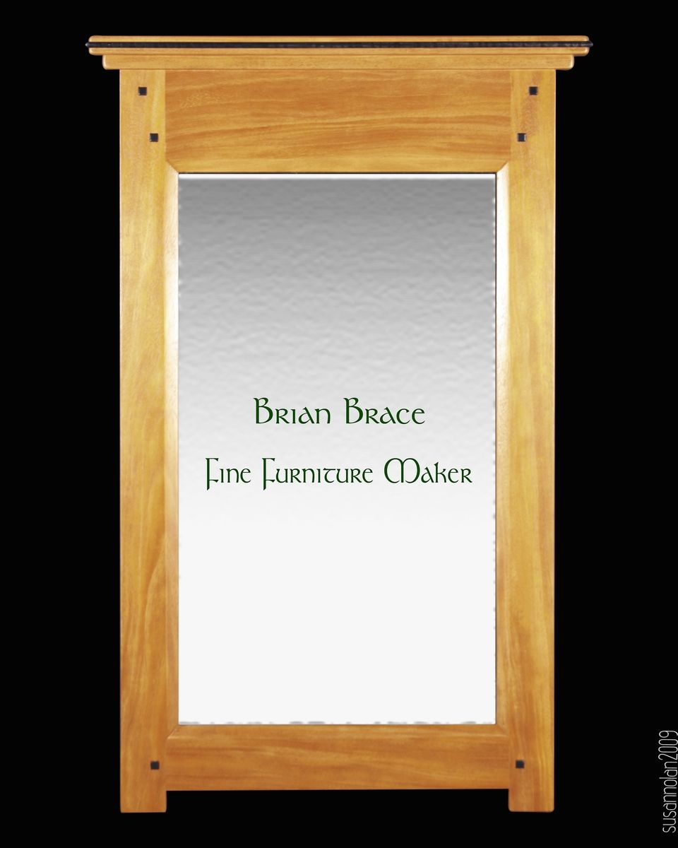Custom made greene and greene style mirror by brian brace for Greene and greene inspired furniture