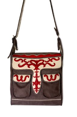 Custom Made Embroidered Carriel / A Classic Colombian Handbag With Luxe Embroidered Detail