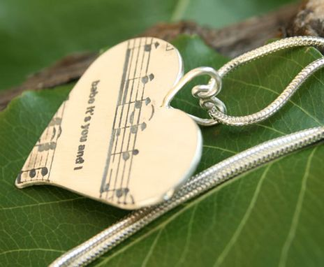 Custom Made Musical Heart Pendant