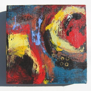 "Custom Made Abstract Acrylic Painting Original Modern Contemporary Artwork ""Round Up"""