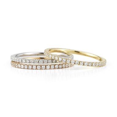 Custom Made Stackable Diamond Bands