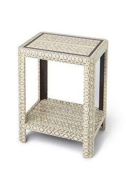 Custom Made Occasional Table With Genuine Snakeskin