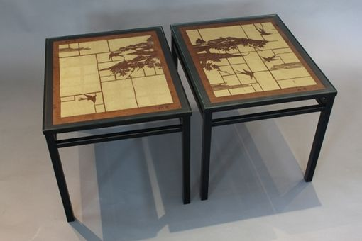 Custom Made Tokyo Cocktail Table Pair