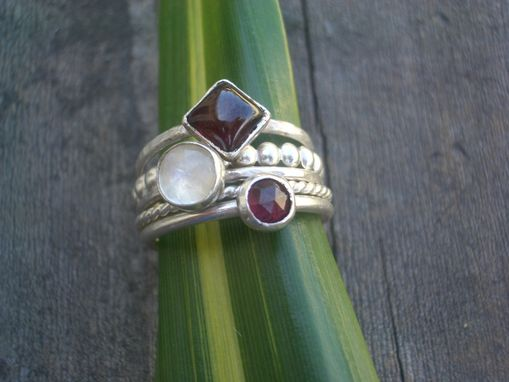 Custom Made Ameilia Set Of Stacking Rings