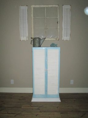 Custom Made Shutter Linen Closet