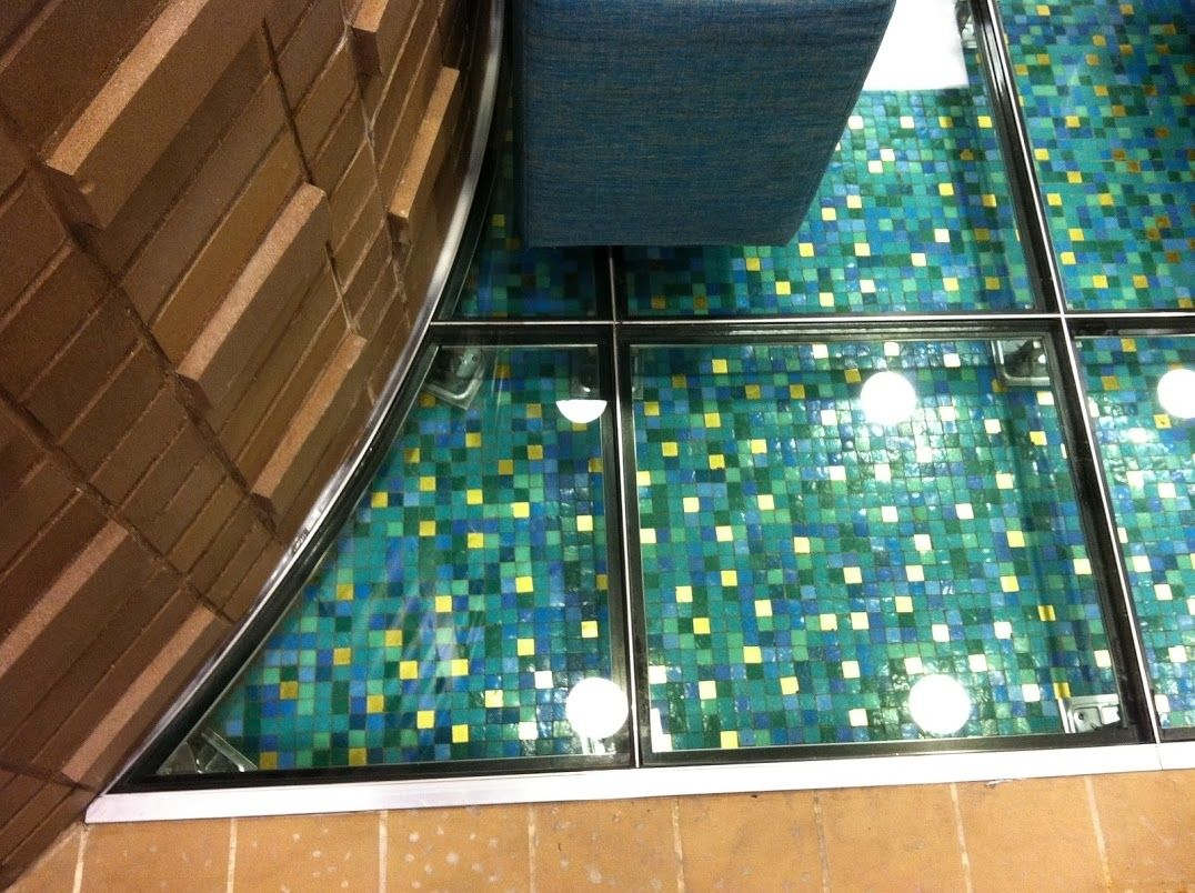 Hand Crafted Gl Floor Looks Like Water By Liquidoranges Studio Llc Custommade