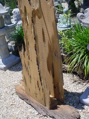 Custom Made Louisiana Sinker Cypress Floor Lamp Wooden One Of A Kind