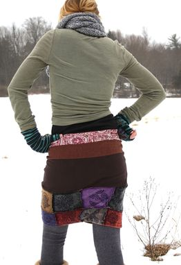 Custom Made Calliope Pencil Mini Skirt