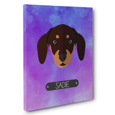 Custom Made Dachshund Dog Lover Wall Art Canvas