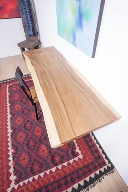 Custom Made Live Edge Wood Slab Table - Ideal For Home Office / Desk / Dining Table