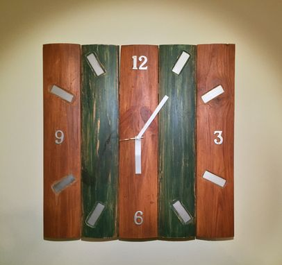 "Custom Made Large Repurposed Wood Clock (25""X25"")"