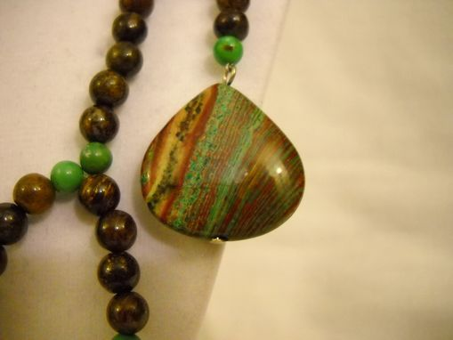 Custom Made Asymetrical Lined Jasper Necklace