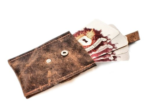 Handmade pop up leather card wallet and business card holder with pop up leather card wallet and business card holder with antique key reheart Images