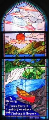 Custom Made Custom Stained Glass Church Window For Trinity United Church In Huntsville Ontario
