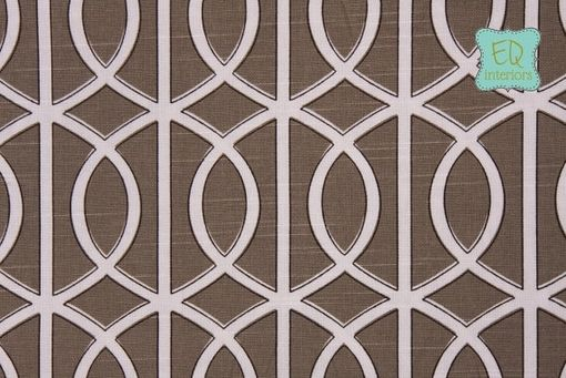 Custom Made 108l X 50w Robert Allendwell Studio Bella Porte Brindle Trellis Fretwork Custom Curtain Panels
