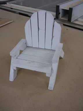 Custom Made Small Rustic Chair Business Card Or Cell Phone Holder
