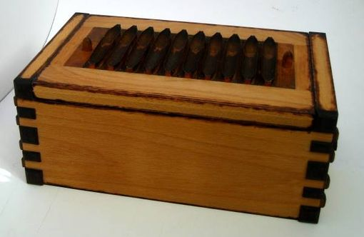 Custom Made Vintage Cigar Mold Tabletop Humidor
