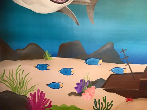 Custom Made Ocean Mural On Canvas