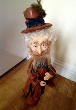 Custom Made Wizard Ooak Figurine / Doll Gerome Pa The Friendly Wizard - Ogld Dma