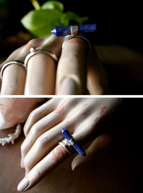 Custom Made Lapis Lazuli 3 Piece Sterling Silver Stacking Rings