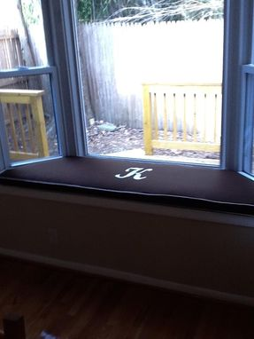 Custom Made Custom Embroidered Window Seat Cushion