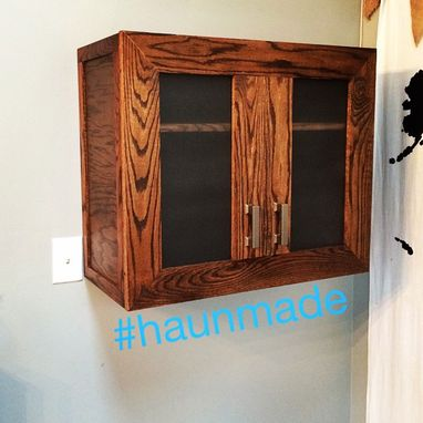 Custom Made Locking Liquor Cabinet