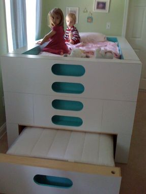 Custom Made Modern Trundle Bed