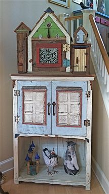 Custom Made Birdhouse City Entertainment Console