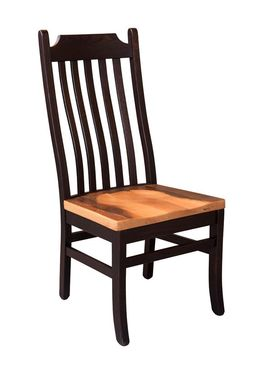 Custom Made Reclaimed Wood Mission Chair (Black And Natural Barnwood Seat)