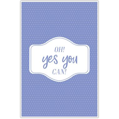 Custom Made Yes You Can Purple And Dots Canvas Wall Art