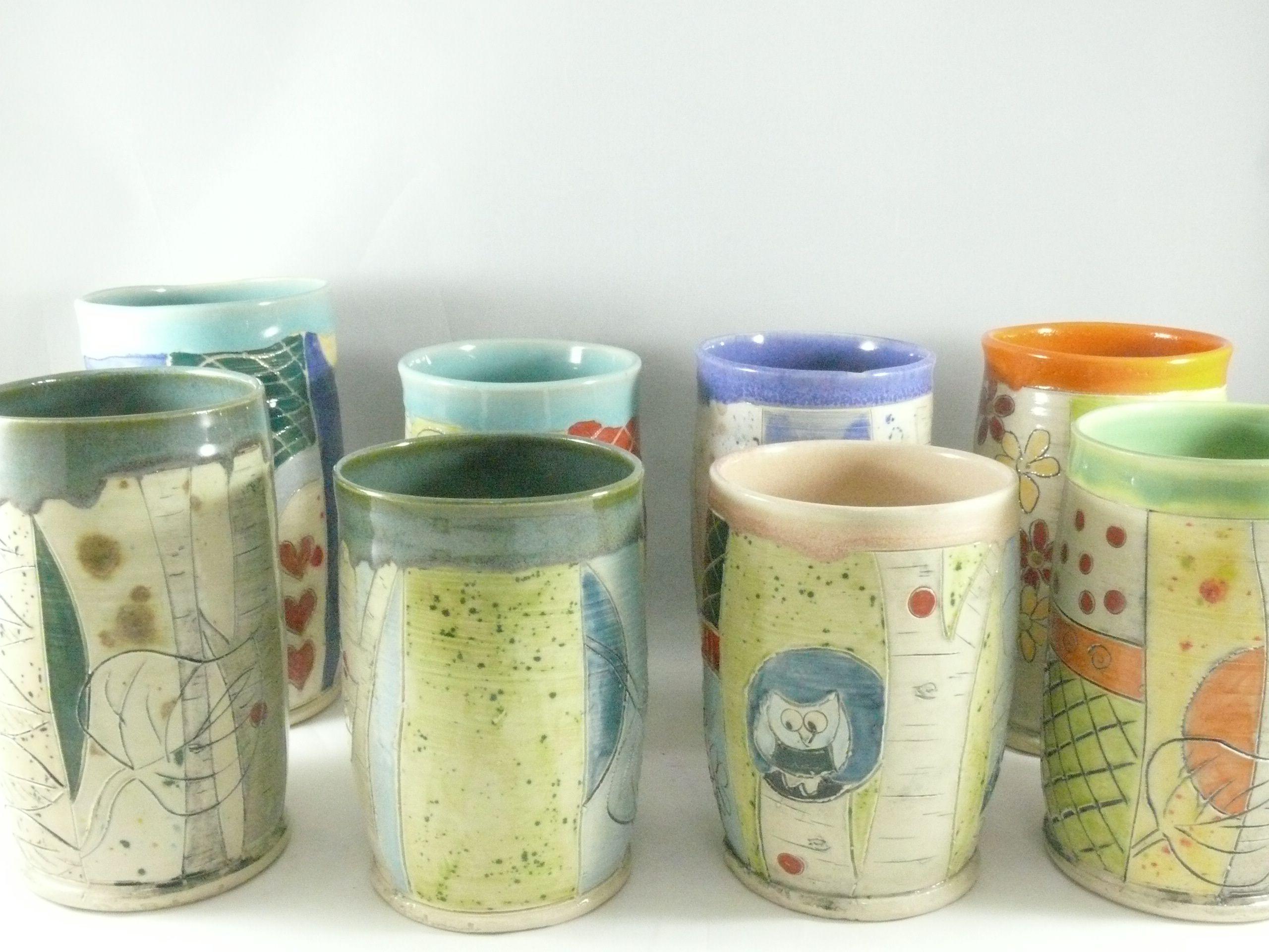 Buy a custom handmade ceramic pencil holder tumbler teacup or custom made handmade ceramic pencil holder tumbler teacup or art sculpture vase reviewsmspy