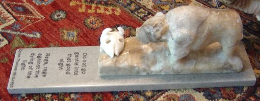 Custom Made Alabaster Carving: Rage