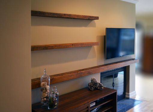 Reclaimed Lumber Floating Shelves