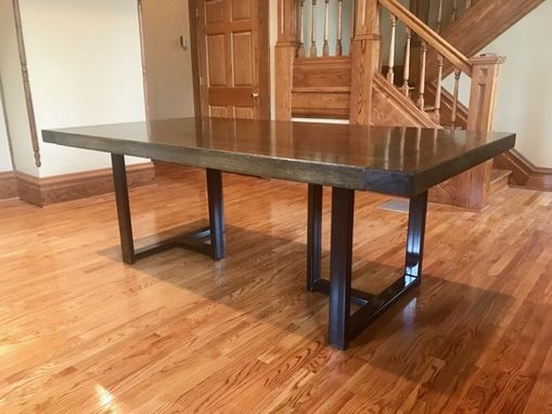 Custom Made Oak Conference Table