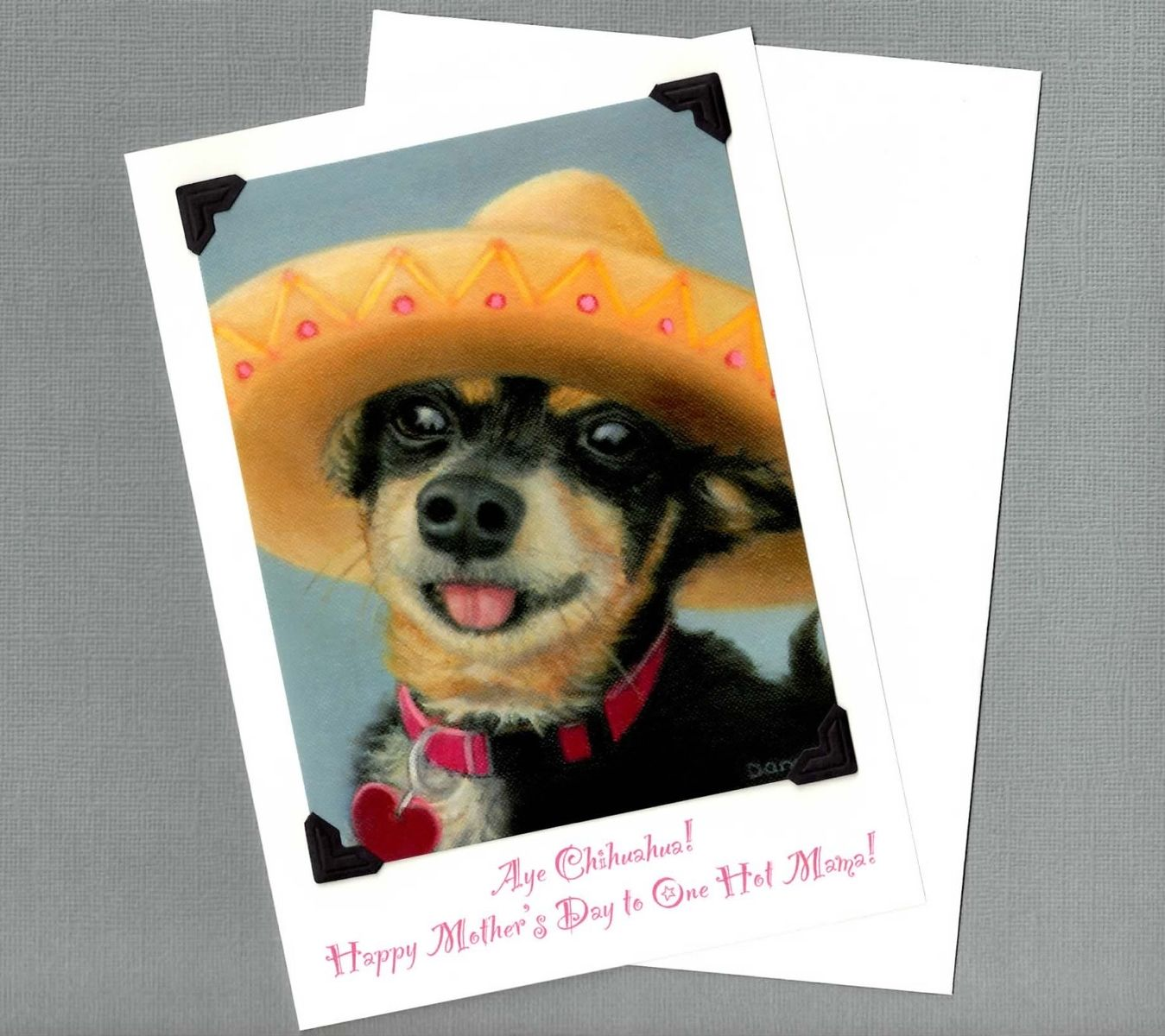 Hand Crafted Hot Mama Mother's Day Card - Aye Chihuahua Dog Art - 10% Benefits Animal Rescue by ...