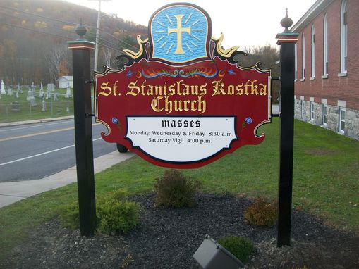 Custom Made Hand Carved Catholic Church Signs