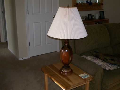 Custom Made Wooden Table Lamp Of Many Colors