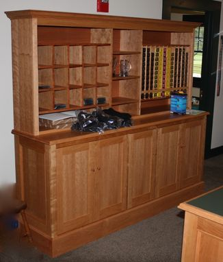 Custom Made Cherry Pro Shop Display Cabinets