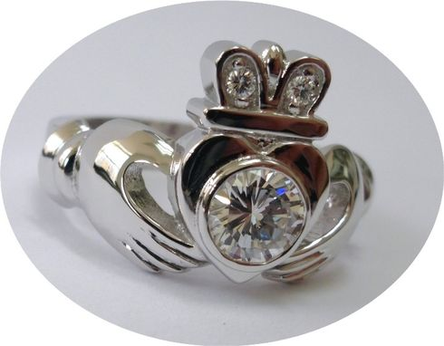 Custom Made Half Carat Diamond Claddagh Ring.
