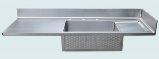Custom Made Stainless Countertop With Woven Apron