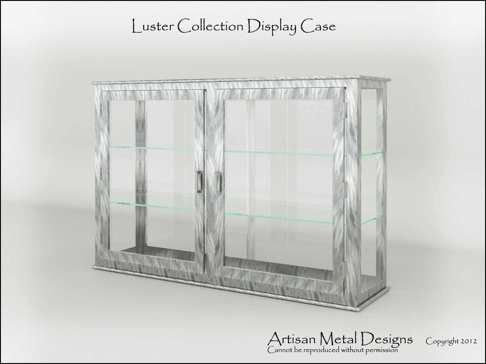 Hand Made Modern Display Case Trophy Case By James
