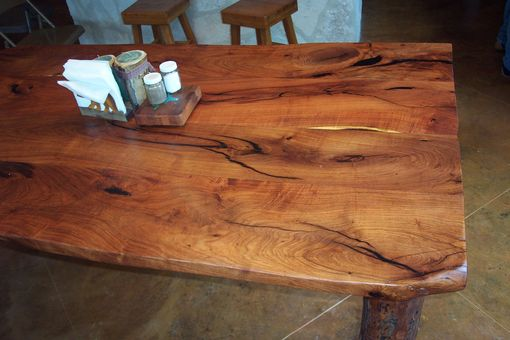 Custom Made Live Edge Mesquite Dinning Table