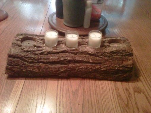 Custom Made Reclaimed Wood Candle Holder